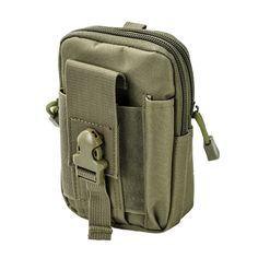 Tactical MOLLE Utility Pouch Bag Army Green
