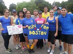 Heres our Run For Boston Picture (taken 4/17)all the way from San Antonio Texas~! Our poster included 3 stars for the 3 souls we lost on 4/15. All together WE ran well over a marathon!! 3 Our thoughts and prayers still go out to those in Boston!