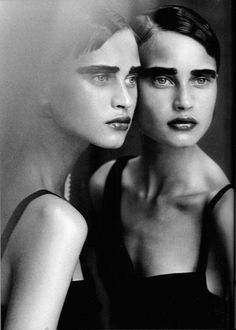 photo by peter lindbergh for vogue italia.  october 1997.