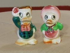 Vintage Duck Character Salt and Pepper Shakers by RandysGallery