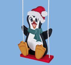 #Christmas #Penguin on Swing