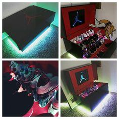 Fullsize Custom MichealJordan shoe box w/LED Lights with Remote.  $900+shipping