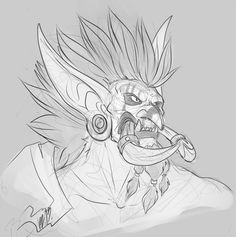 Some Vol'jin doodles, because wHY NOT