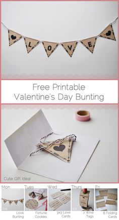 kind over matter: Daily Inspiritment : Free Printable Valentine's Day Kraft Paper Bunting
