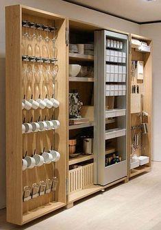 Creative Space Saving Kitchen Pantry Ideas 9 - Home Interior and Design Home Decor Kitchen, Diy Kitchen, Kitchen Interior, Kitchen Storage, Home Kitchens, Kitchen Pantry, Pantry Storage, Kitchen Cabinets, Condo Kitchen