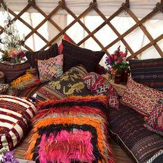 TURKISH MOON Floor Cushion   Bohemian Luxe Homewares   dosombre.com ...