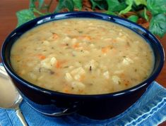 Easy Cream of Wild Rice Chicken Soup from Food.com:     Great for this rainy day  I found this recipe on a weight loss website. My family didn't even notice that it was made with fat-free ingredients.