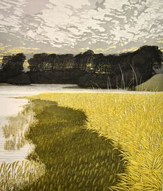 Etching by Phil Greenwood Watercolor Landscape, Landscape Art, Landscape Paintings, Collage Techniques, Art Graphique, Old Art, Types Of Art, Artwork Prints, Art Pictures
