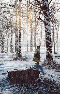 Snow Tracker | Personal Work inspired by Kolesnikov. ©Jason Scheier 2014