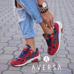 New Balance 580 Lifestyle Suede Red - AversaShoes