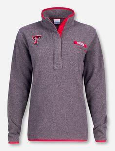 "Texas Tech Columbia ""Harborside"" Grey Fleece Women's Pullover - Red Raider Outfitter"