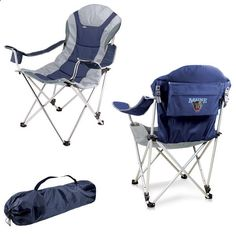 Camping Chairs - Maine Black Bears Reclining Camp Chair - Navy - $89.99