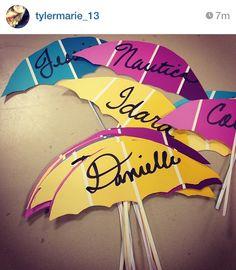 #doordecs #april #umbrella  name tags? Letter u activity