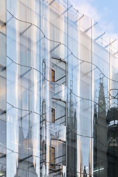 Paris – Source by Glass Building, Building Facade, Building Design, Concept Architecture, Facade Architecture, Glass Curtain Wall, Glass Facades, Luz Natural, Commercial Architecture