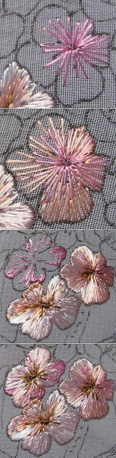 Grand Sewing Embroidery Designs At Home Ideas. Beauteous Finished Sewing Embroidery Designs At Home Ideas. Silk Ribbon Embroidery, Crewel Embroidery, Cross Stitch Embroidery, Flower Embroidery, Embroidery Tattoo, Japanese Embroidery, Embroidery Thread, Embroidery Digitizing, Machine Embroidery