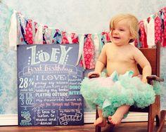 DIY 1st Birthday Photo Shoot | First Birthday Chalkboard | Photo Shoot Ideas