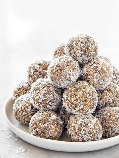 These Lemon Coconut Energy Balls are the perfect snack to have around when you're craving something sweet but healthy!