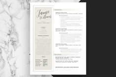 Minimalistic Cover Letter and Resume
