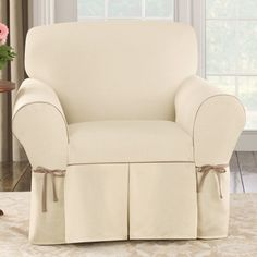 Shop for Sure Fit Contrast Cord Duck Natural Chair Slipcover. Get free delivery On EVERYTHING* Overstock - Your Online Home Decor Shop! Furniture Covers, Chair Covers, Home Furniture, Sure Fit Slipcovers, Slipcovers For Chairs, Armchair Slipcover, Chair Cushions, Casual Decor, Decorative Cushions