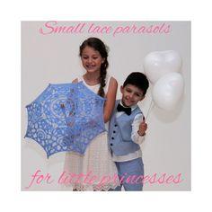 Parasols for flower girls, birthday or garden party. Lace Parasol, Flower Girls, Birthday, Garden, Party, Flowers, Wedding, Guest Gifts, Kids