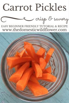 Carrot Pickles | The Domestic Wildflower click through to get this simple…