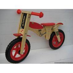 Kraamcadeau jongen: stoere houten loopfiets in motor model, met naam van het kindje. Tricycle, Motor, Gift