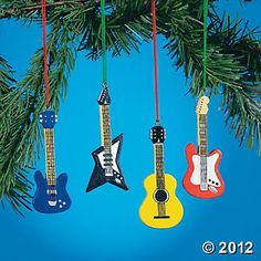 Guitar Ornaments -- favors for B's 1st b'day?