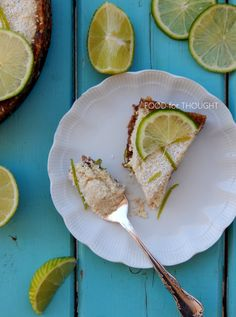 Food for thought: Ωμοφαγική τάρτα με λάιμ Vegan Key Lime Pie, Raw Vegan Desserts, Avocado Toast, Breakfast, Food, Morning Coffee, Meals, Yemek, Eten