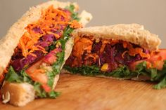 Purple Sweet Potato Sandwich || Vegan