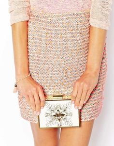 River Island | River Island Cream Jewelled Box Clutch Bag. Are you ready for this sparkle? http://keep.com/river-island-river-island-cream-jewelled-box-clutch-bag-by-cocomist/k/zoUSdAgBGW/