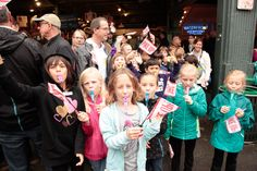 Kazoos and Pike Up! flags made for a one of a kind school trip to Pike Place Market.