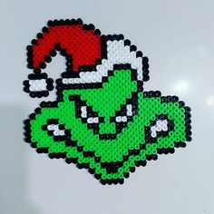 The Grinch - Christmas hama beads by bad_cacahuete