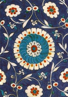 wildthicket:  16th Century Turkish Encaustic Tiles