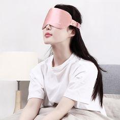 07a65c1ac Gustala Sleeping Eye Mask Exothermic Silk Blindfold - Auto Power Off    Adjustable Temperature