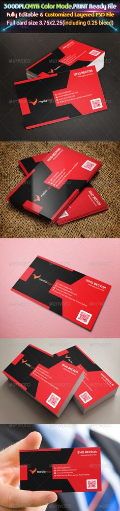 Red Corporate Business Card