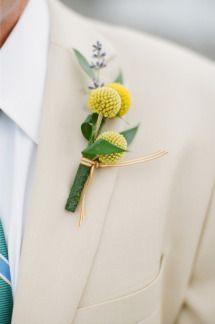 Billy Ball Boutonniere | Photo: Lara Kimmerer Photography  | On #SMP: http://www.stylemepretty.com/massachusetts-weddings/2013/11/11/peaks-island-maine-destination-wedding-from-lara-kimmerer-photography/