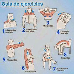 Para evitar y mejorar el dolor de cuello y espalda por estar sentado todo el dia