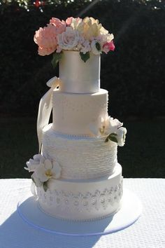 English Garden Wedding Cake