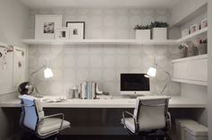 30 Shared Home Office Ideas That Are Functional And Beautiful, Classy home office.