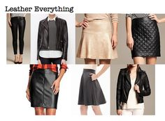 Fall 2014 trends: leather everything! Stop by the store and see what leather we have to offer! #boutiquelp