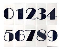 art deco house number tiles