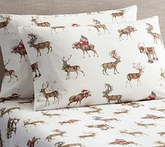 Silly Stag Printed Sheet Set #potterybarn