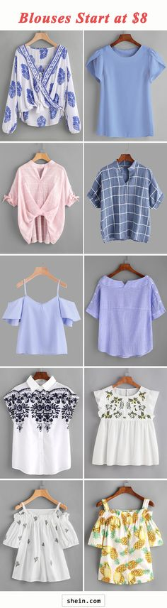 Comfy blouses start at $8