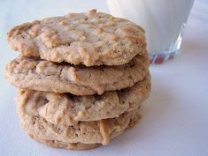 Peanut Butter Cookies by Back to the Cutting Board-- great recipe add 1/8 tbsp salt. my man loves when I make him his favorite cookies from scratch;)