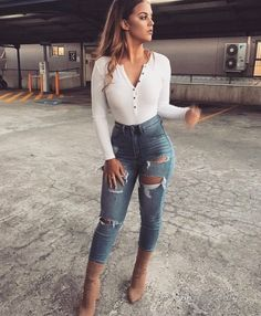 How to wear cute outfits casual heels 65 Ideas Look Fashion, Autumn Fashion, Fashion Outfits, Womens Fashion, Fashion Black, Fashion Clothes, Fashion Ideas, Fashion Trends, Jean Outfits