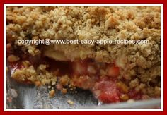 Apple Berry Crumble with Oats and Nuts!