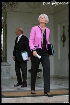 Christina Lagarde est fan des maisons de couture françaises comme Chanel ou Hermès. Paris, 23 mai 2011