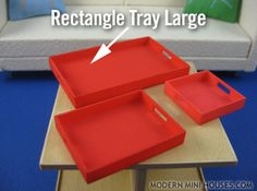 Rectangle Tray Large 1:12 scale 3d printed Miniatures