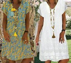 Japanese sleeve evasé dress and easy-to-make V-neckline - Amelia Wadsworth Love Fashion, Fashion Art, Womens Fashion, Fashion Design, Vestidos Vintage, Vintage Dresses, Japanese Sleeve, Linen Dresses, Ideias Fashion