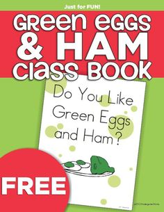 Create a Dr. Seuss-inspired class book for kindergartners. Take photos of students tasting green eggs and ham and make your own class book. Dr. Seuss, Dr Seuss Week, Dr Seuss Printables, Preschool Printables, Dr Seuss Activities, Book Activities, Educational Activities, Free Preschool, Preschool Crafts